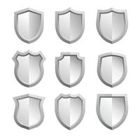 pack d'icônes vectorielles gratuites badges de bouclier de fer vecteur