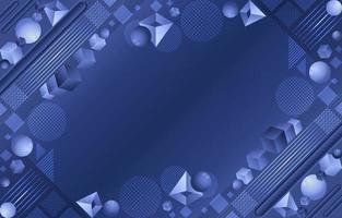 abstrait géométrique bleu dégradé vecteur