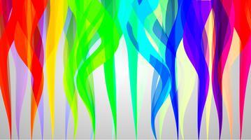 Fond de fumée colorée, illustration vectorielle