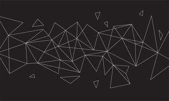 Polygonale abstrait coloré avec points et lignes connectés, structure de connexion, fond hud futuriste, image de haute qualité avec des parties floues