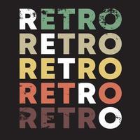 conception de couleur rétro pour t-shirt, timbre, impression de tee, applique, etc. vecteur