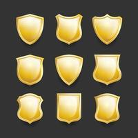 collection d'icônes de bouclier vecteur