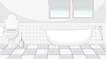 aménagement intérieur de salle de bain avec mobilier et baignoire vecteur