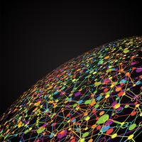 Monde en pointillé avec des connexions, illustration vectorielle vecteur