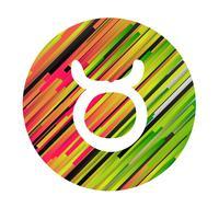 Un signe du zodiaque du taureau, illustration vectorielle