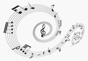 Pack de vecteurs de notes musicales deux vecteur