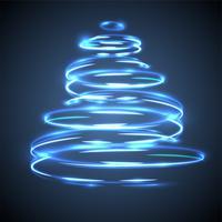 Effet de scintillement et de sapin de Noël pour la publicité vecteur
