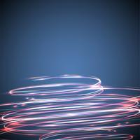Cercles flous de néon sur fond bleu, illustration vectorielle. vecteur