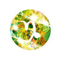 Un signe du zodiaque du capricorne, illustration vectorielle