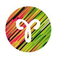 Un signe du zodiaque du Bélier, illustration vectorielle