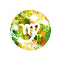 Un signe du zodiaque de la vierge, illustration vectorielle