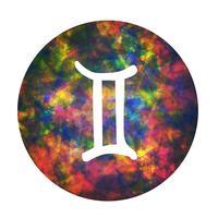 Un signe du zodiaque de Gemini, illustration vectorielle