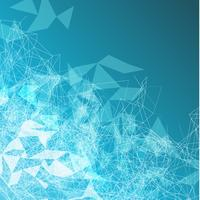 Polygonale abstrait coloré avec points et lignes connectés, structure de connexion, fond de hud futuriste, illustration vectorielle
