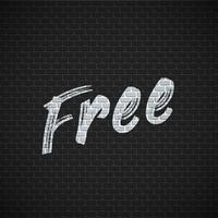 Mur de briques détaillées avec illustration vectorielle «gratuit» de peinture
