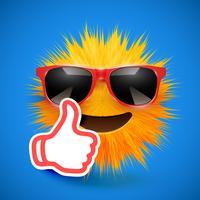 Émoticône smiley de fourrure 3D de haute précision, illustration vectorielle vecteur