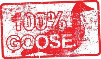 100 % oie - timbre grungy sale en caoutchouc rouge vecteur