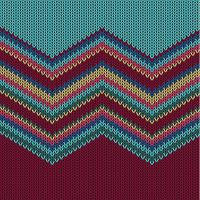 Modèle tricoté coloré zigzag pour le fond, illustration vectorielle vecteur