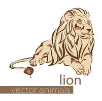 collection de vecteur animal. Lion.