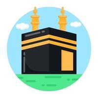 lieu de la kaaba et du hajj vecteur