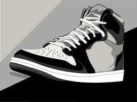 illustration vectorielle de chaussures, baskets, bottes vecteur