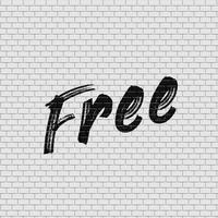 Mur de briques détaillées avec illustration vectorielle «gratuit» de peinture vecteur