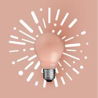 Ampoule mat réaliste avec abstrait, illustration vectorielle