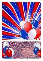 Pack de papier peint étoiles, rayures et ballons vecteur