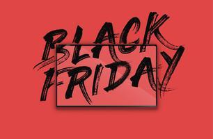 Cahier très détaillé avec 'BLACK FRIDAY' peint à l'écran, illustration vectorielle