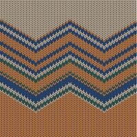Modèle tricoté coloré zigzag pour le fond, illustration vectorielle