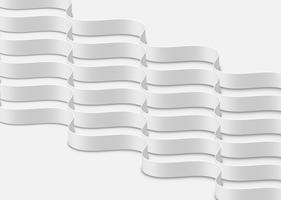 Vagues blanches abstraites hautement détaillées, illustration vectorielle