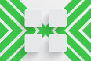 Modèle propre pour la publicité avec des flèches vertes, illustration vectorielle
