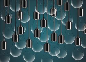Illustration d'ampoule créatif sur fond bleu, vector