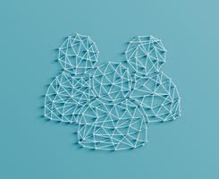 Illustration réaliste d'une icône de la figure faite par des épingles et des chaînes, vector