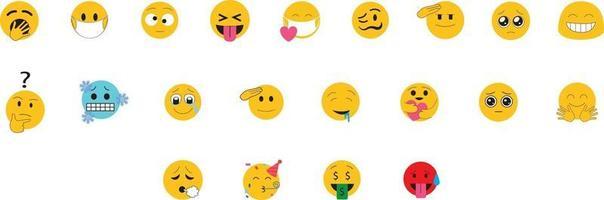 ensemble d'icônes emoji vecteur