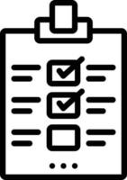 icône de ligne pour évaluation vecteur