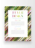 Modèle coloré / conception de l'affiche, vector
