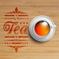 Tasse réaliste de thé, vecteur