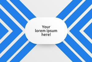 Modèle propre pour la publicité avec des flèches bleues, illustration vectorielle
