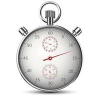 chronomètre classique réaliste isolé sur blanc vecteur