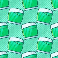 illustration de modèle sans couture boisson smoothie vecteur