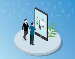 consultation médicale de médecin en ligne pour les soins de santé vecteur