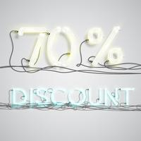 Pourcentage de réduction, illustration vectorielle vecteur