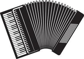 instrument de musique d'accordéon classique vecteur