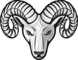 icône de tête de bélier vecteur