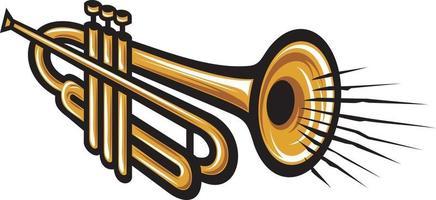 instrument de musique de trompette vecteur