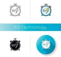 icône de chronomètre 5g vecteur
