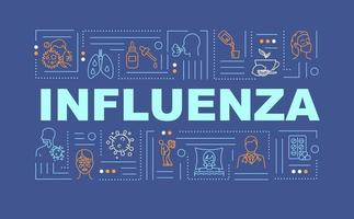 bannière de concepts de mot grippe vecteur