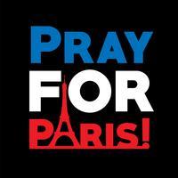 """""""Priez pour Paris"""", illustration vectorielle"""