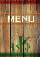Menu mexicain, illustration vectorielle