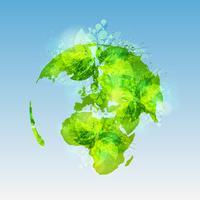 Monde vert, vecteur